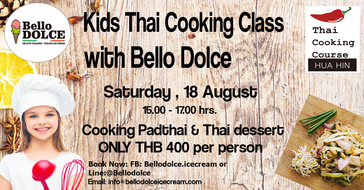 Kid thai cooking class hua hin